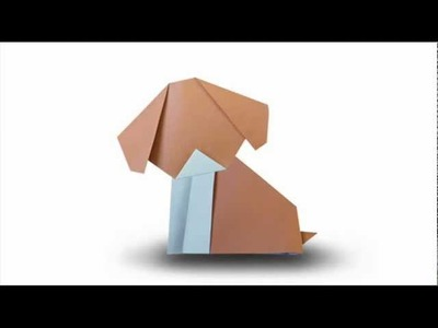 How to fold an Origami Puppy Dog