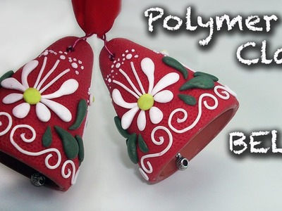 How to make an easy Christmas decorations. Polymer clay bell tutorial