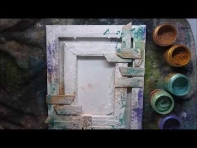 How to make mixed media canvas 'Be brave, be bold' for Finnabair Creative Team