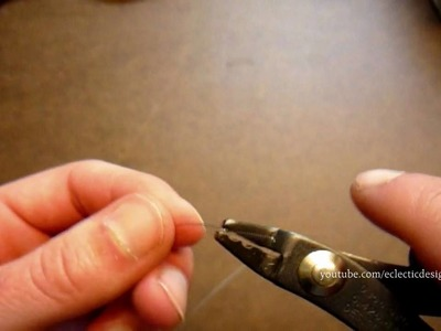 How to Secure Crimp Beads Using Crimping Pliers and Chain-nose Pliers - Jewelry-making Techniques