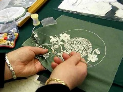 Irish Crochet Lace Demonstration 2 by Nora Finnegan