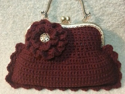 Make a #Crochet Handbag Purse with Clasp #TUTORIAL Free Crochet project