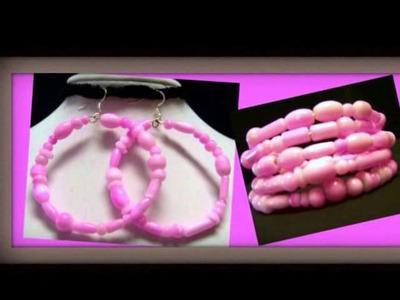 Memory Wire Jewelry ~ Hoop Earrings and Bracelets