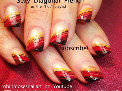 Nail Art Tutorial | DIY Easy Fall Nail Art for Beginners!!! | Diagonal Thanksgiving Nail Design