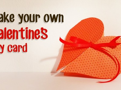 Paper Magic DIY: Valentine's day paper card tutorial