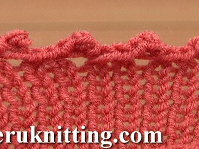 Picot Edge Bind Off Cast Off Tutorial 7 Method 8 of 12 Decorative Bind-off