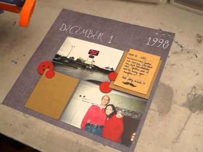 Scrapbook Ideas: How to use a paper crimper