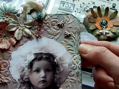 Scrapbooking Haul. Vintage Tag & Flowers