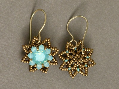 Sidonia's handmade jewelry - Little Stars Swarovski beaded earrings
