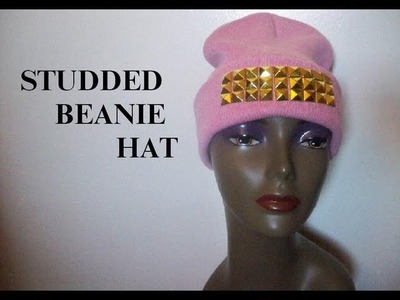 Studded Beanie Hat: DIY