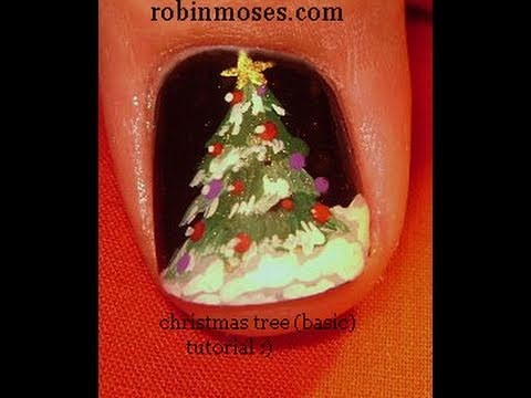 1 Nail Art Tutorial   DIY Easy Nail Design for Beginners   Christmas Tree