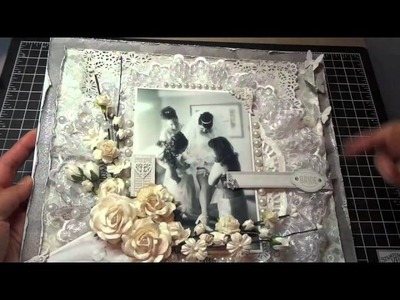 12x12 Wedding Scrapbook Layout: Another I Am Roses challenge!