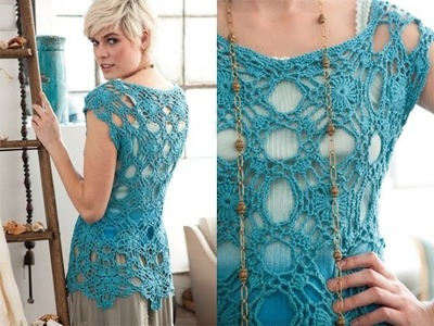 #18 Lacy Top, Vogue Knitting Crochet 2012