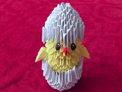 3D origami chick in eggshell master class tutorial