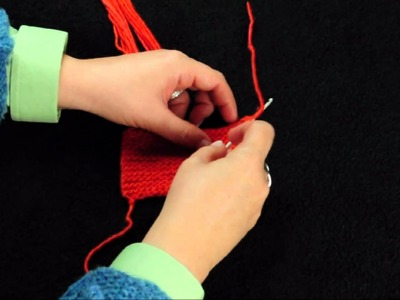 Adding Knotted Fringe to a Scarf or Shawl