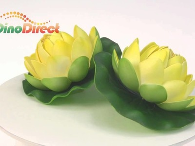 Artificial Craft Water Lily Lotus Flowers 2 Pcs  from Dinodirect.com