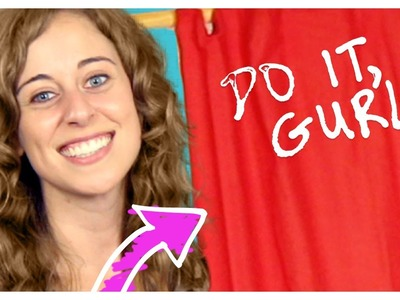 Bedsheet Curtain - Do It, Gurl
