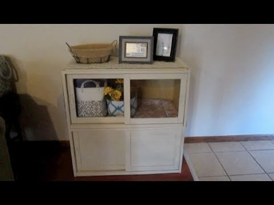 Cabinet Painting & Repurposing as a Craft Cabinet!
