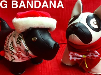 CHRISTMAS DOG BANDANA - XMAS FESTIVE SCARF - DIY Dog Craft by Cooking For Dogs