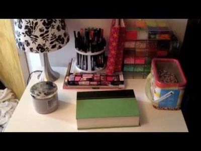 Craft Supply Storage (the bedroom portion) ♡ Theeasydiy #RoomDecor