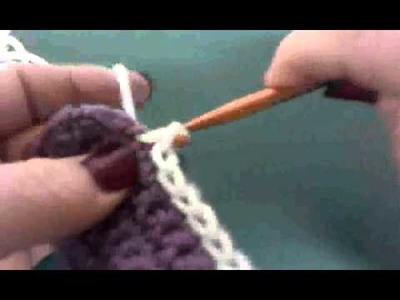 Crochet a seam with your crochet hook