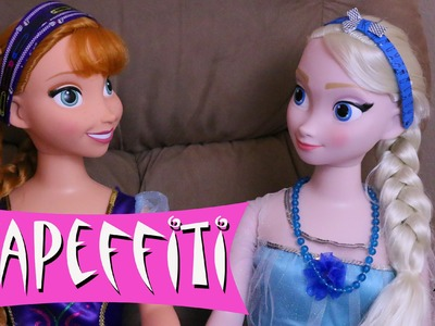 Disney Frozen My Size Elsa & Anna Dolls Makeover Monster High Tapeffiti Headbands DisneyCarToys