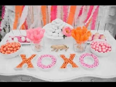 DIY Candy buffet decoratig ideas for wedding