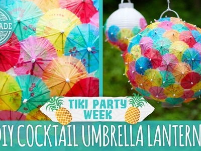 DIY Cocktail Umbrella Lanterns - Tiki Party Week - HGTV Handmade