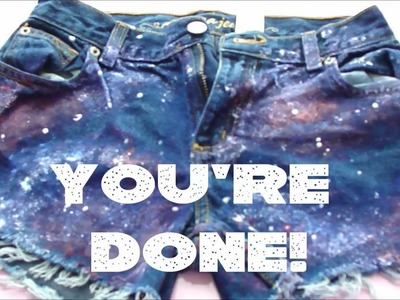 DIY Galaxy Shorts!