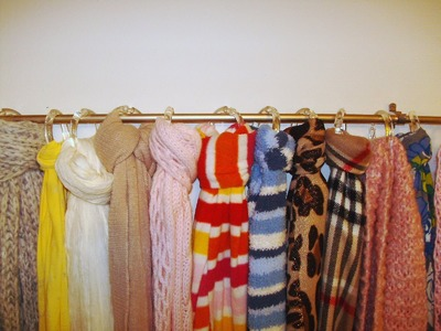 DIY: How to Make a Scarf Organizer for Under $7