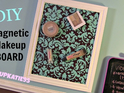DIY Magnetic Makeup Board!