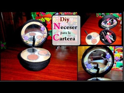 Diy neceser para la cartera make-up bag recycling