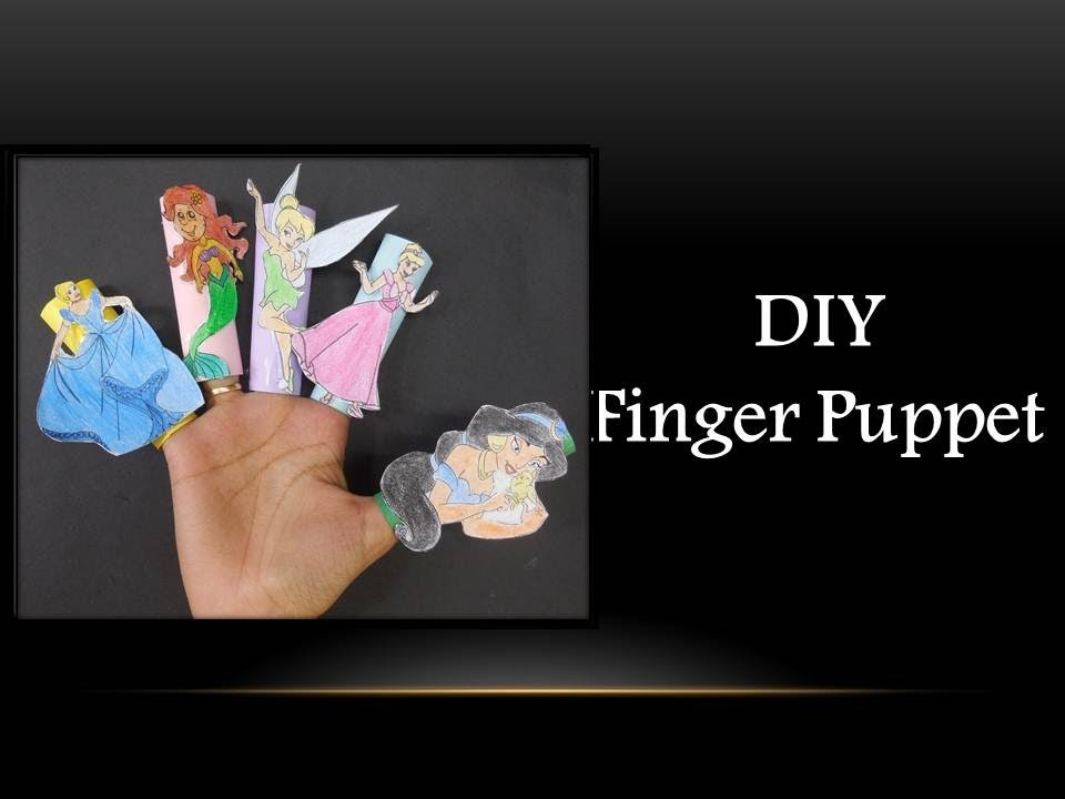 DIY - Paper Finger Puppet (Disney Characters)