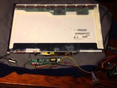 DIY Re-use Old LCD Laptop Display