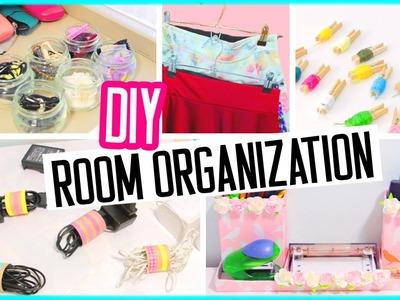 DIY room organization + hacks! Low cost room decor! Spring cleaning