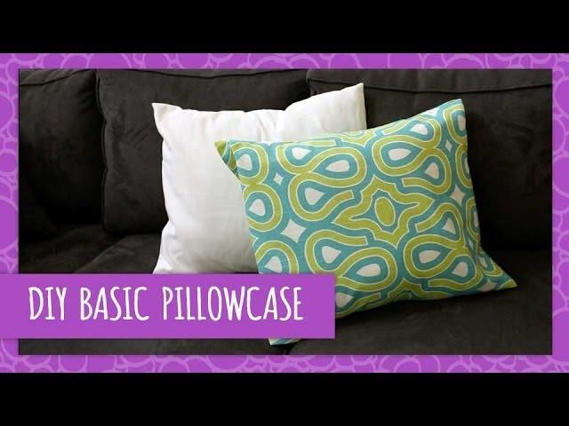 DIY Sew & NO Sew Basic Pillowcase- HGTV Handmade