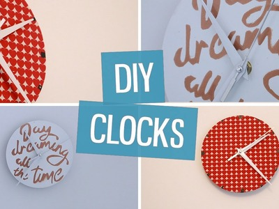 DIY wall clock decor | CharliMarieTV