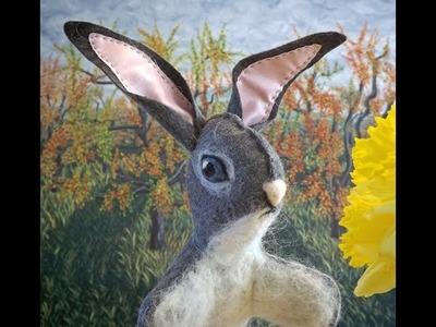 Easter Bunny Felt Craft. Como Fazer um Coelho de Páscoa.