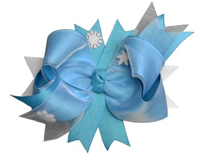 Frozen Elsa Snow Queen Inspired Hair Bow