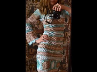 How to crochet boho dress free pattern