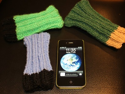 How to Knit IPod Sock