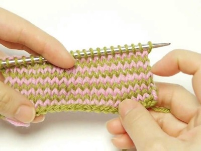 How to Knit Stripes Without Cutting