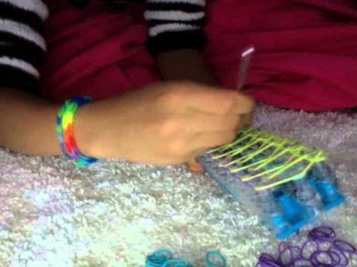 How to make a three string rainbow loom bracelet