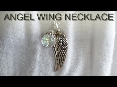 How to Make an Angel Wing Necklace DIY