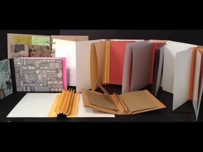 How to make hinges, spines and binding for mini albums and journals