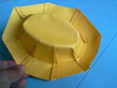 How to make Origami hat (robert j lang)