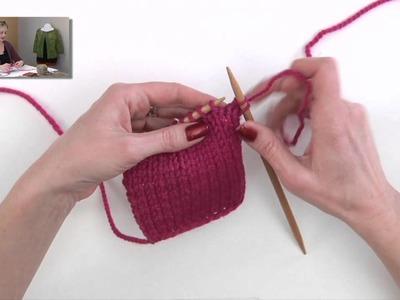 Knitting Help - Make 1 Below (M1B)