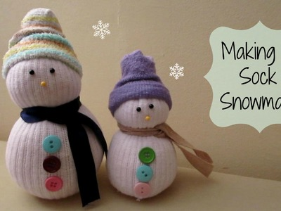 MAKING A SOCK SNOWMAN! Cute Winter Craft | MayMommy2011