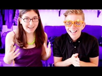Making Costume Glasses with Tyler Oakley - Halloween Craft Series #2
