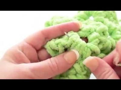 Marshmallow Bernat Baby Blanket How to Crochet -Granny Aquare Blanket P3